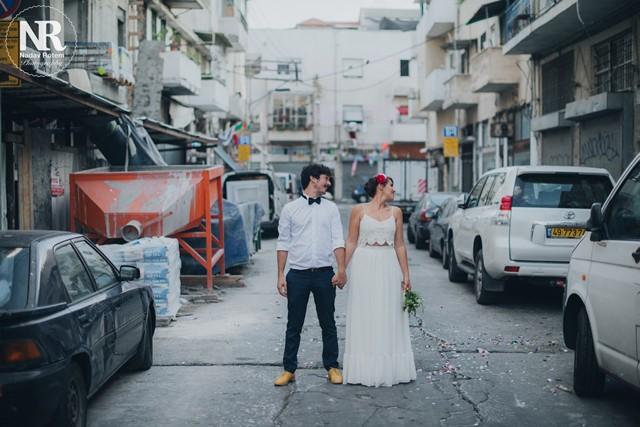 צילומים עירוניים לחתונה בתל אביב