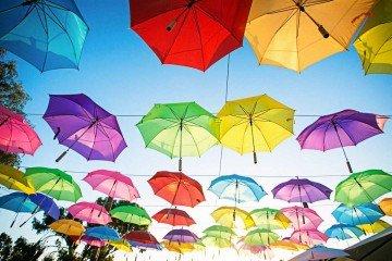 שדרת מטריות לחתונה