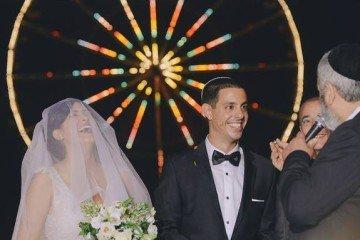 חתונה מול גלגל ענק