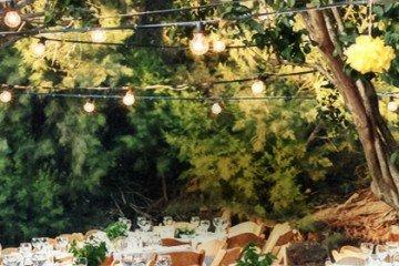 חתונה בכפר - צילום אווירה של אזור ההושבה