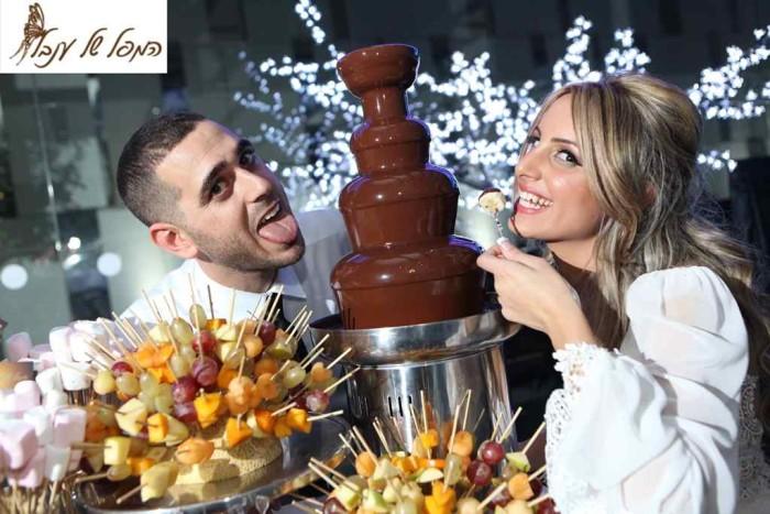 מפל שוקולד לחתונה