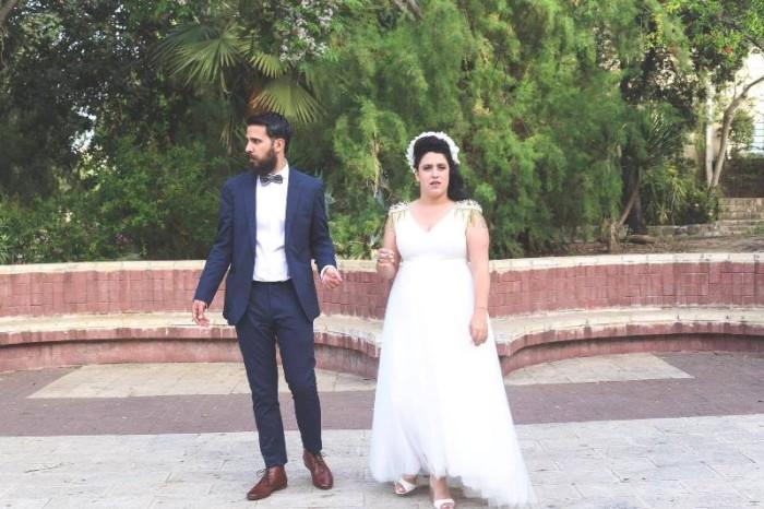 צילומי חתונה של הקומיקאית תום יער