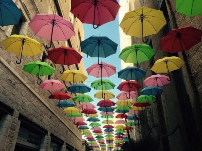 אוהל מטריות