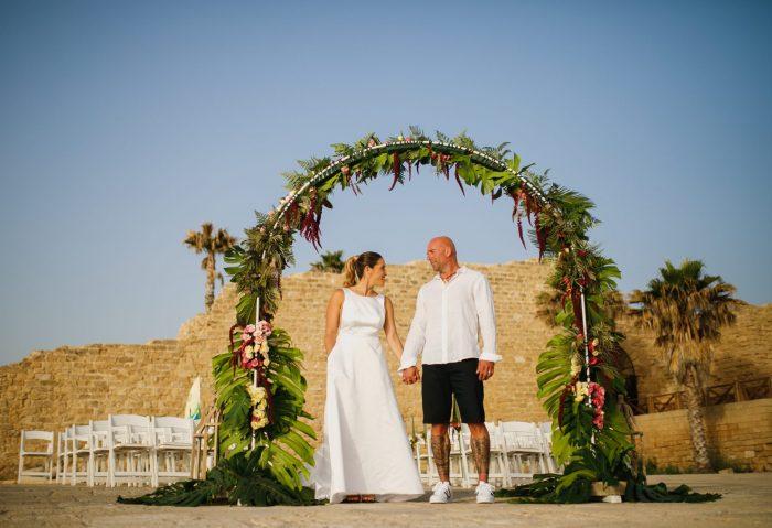 חתונה טרופית - צילומי חתן כלה